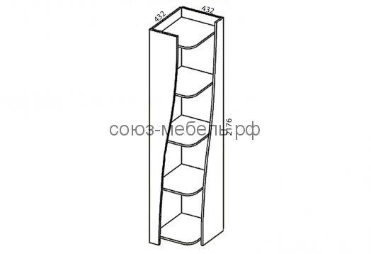 Прихожая Престиж (шкаф 2-х+шкаф угловой+зеркало+пенал+угол (2 шт.))