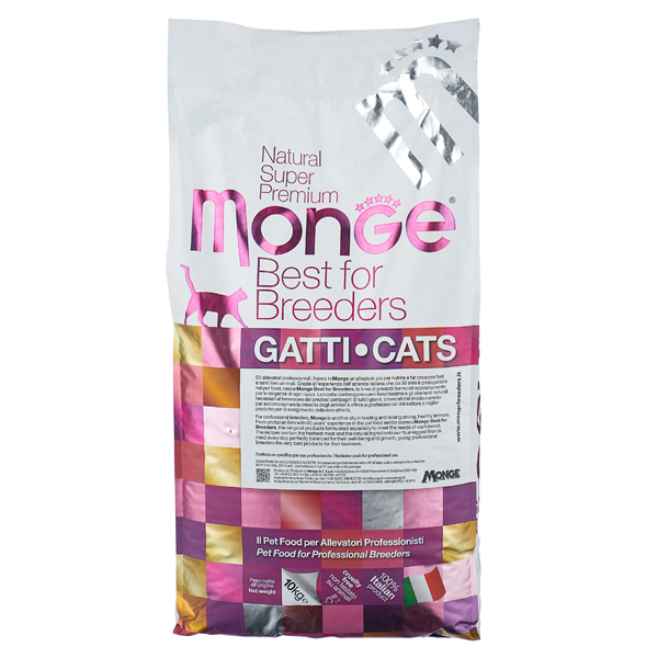 Сухой корм для котят Monge Natural Superpremium Kitten с курицей 10 кг