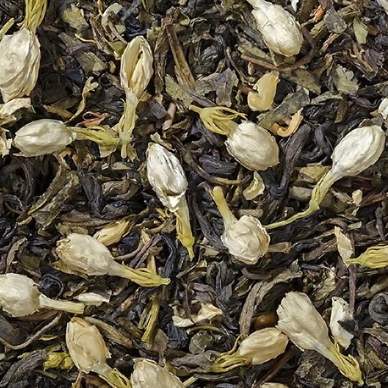 Жасминовый с бутонами - зеленый чай  с натуральными добавками