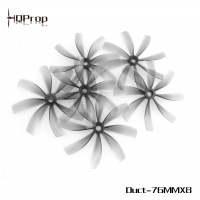 HQProp Duct-76MMX8 for Cinewhoop Grey (2CW+2CCW)-Poly Carbonate Купить в магазине QUADRO.TEAM