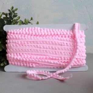 Тесьма с помпонами Ярко-розовая