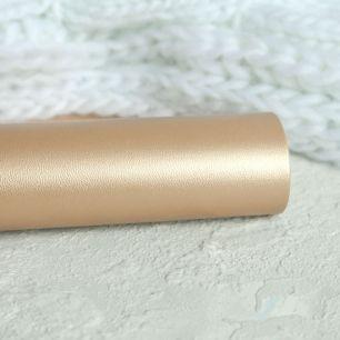 Экокожа для кукольных ботиночек, золотая 30х22 см.