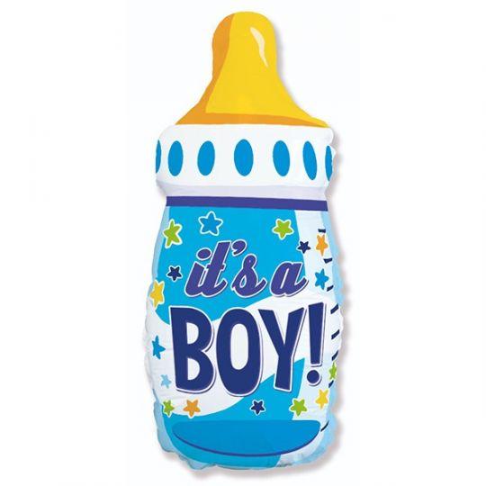 Бутылочка для мальчика новая шар фольгированный с гелием