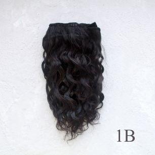 Тресс натуральный (козочка) - Чёрные кудри, 15 см