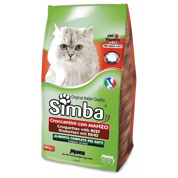 Сухой корм для кошек Monge Simba с говядиной 2 кг