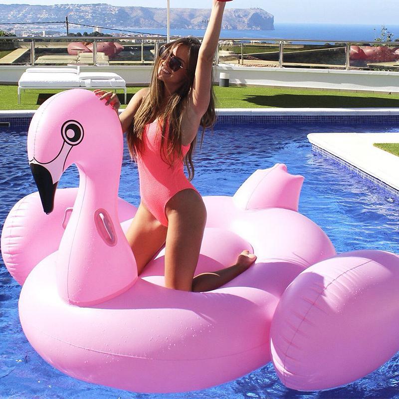 Надувной матрас фламинго, Pink Flamingo, Розовый 192 см
