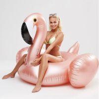 Надувной матрас фламинго, Pink Flamingo, Розово-Золотой 192 см