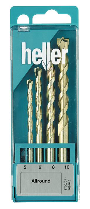 Набор универсальных свёрл Heller Allround 5/6/8/10мм (4 пр.)