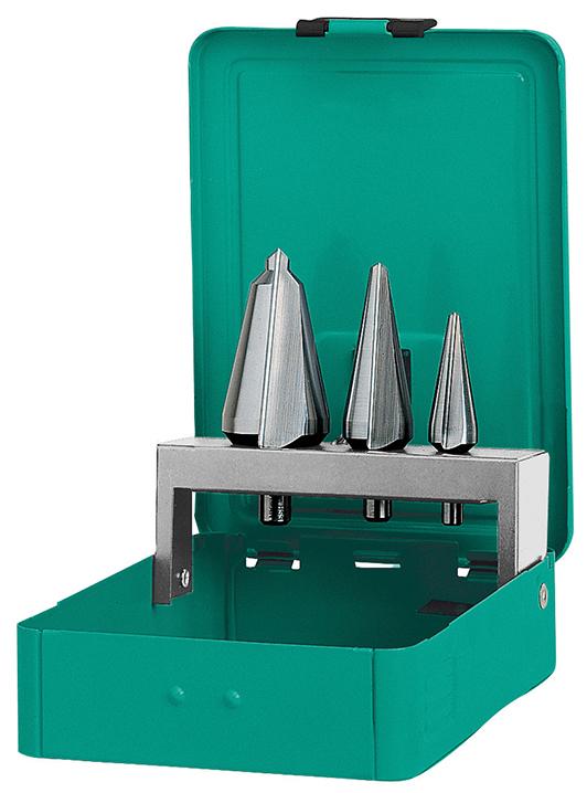 Набор конических сверл по металлу Heller HSS 3-14х34х58мм, 5-20х44х71мм, 16-30.5х52х76мм