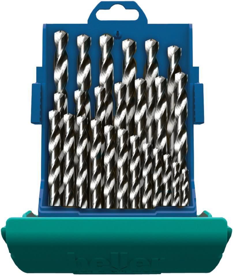 Набор сверл по металлу Heller HSS-Co DIN 338 RN 1/1.5/2/2.5/3…12/12.5/13 (25 пр.)
