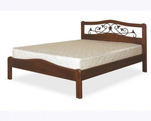Кровать Людмила-3 (120/140/160х200см) тонированная