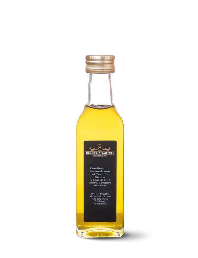 Масло оливковое экстра верджине с ароматом белого трюфеля 250 мл. Olio EVO aromatizzato al tartufo bianco, SelektiaTartufi 250 ml