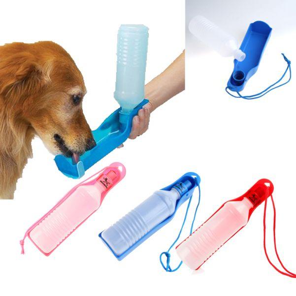 Прогулочная поилка для собак Pet Feeding Bottle, 250 мл