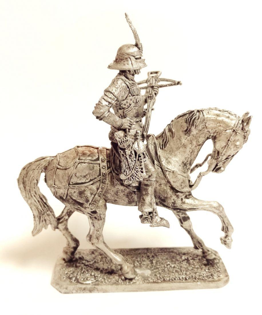 Фигурка Швейцарский конный арбалетчик 1600 г.  олово
