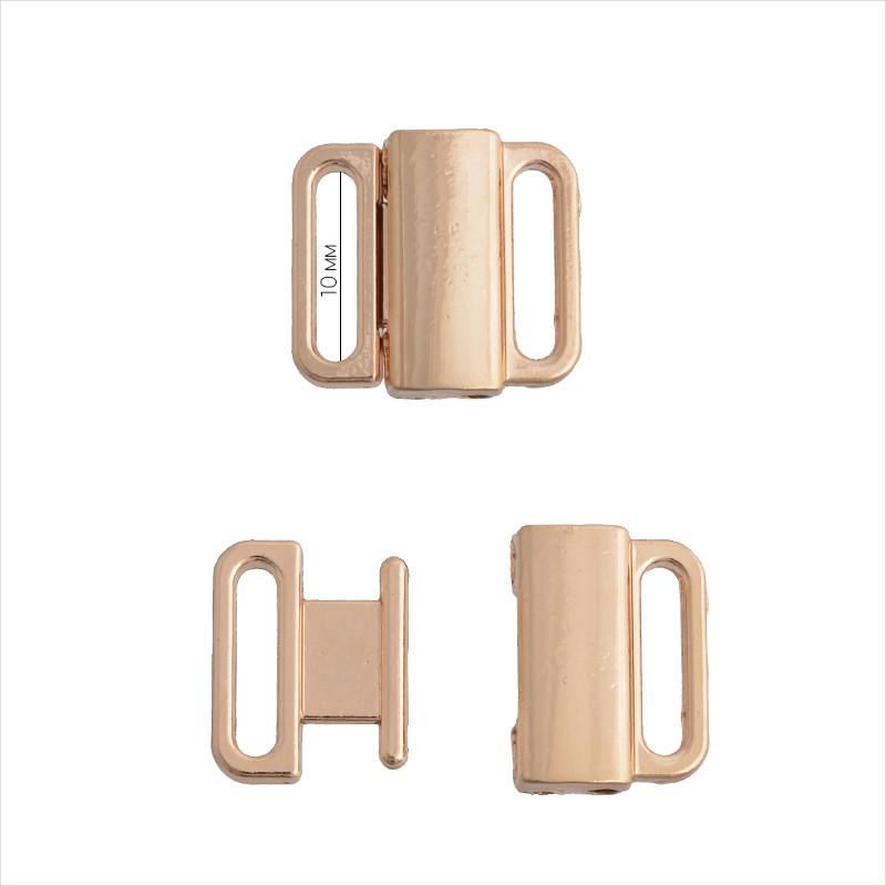 Заcтежка пряжка для купальника (бикини) 10 мм. металл (ТД.ГНУ14600)
