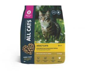 All CATS Сухой корм для взрослых кошек с курицей, 350гр