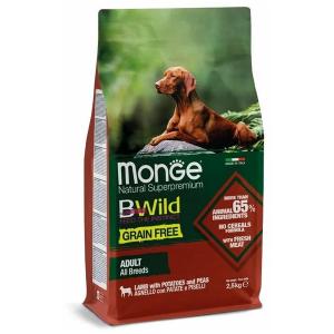 Сухой корм для собак Monge BWILD Feed the Instinct с ягненоком картофелем и горошком 2.5 кг
