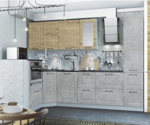 Капри кухонный гарнитур угловой 1,45*2,75