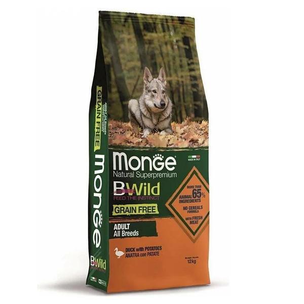 Сухой корм для собак Monge BWILD Feed the Instinct утка с картофелем 12 кг