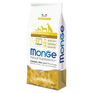 Сухой корм для собак Monge Speciality line с курицей рисом и картофелем 12 кг