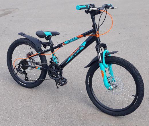 Велосипед Novatrack Extreme D 20 6 Черный