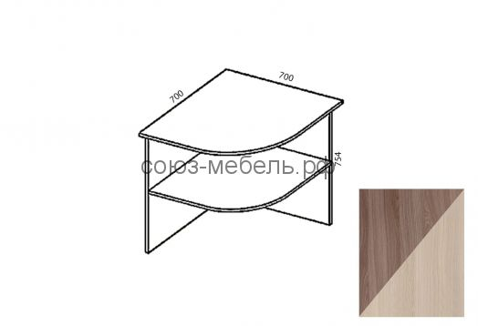 Триумф Стол приставной СП-0,7х0,7