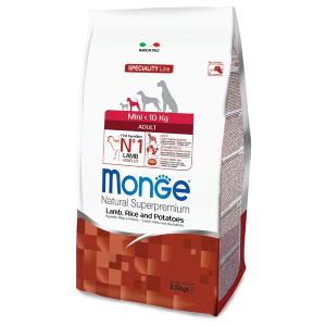 Сухой корм для собак мелких пород Monge Daily Line Mini с ягненком рисом и картофелем 2.5 кг