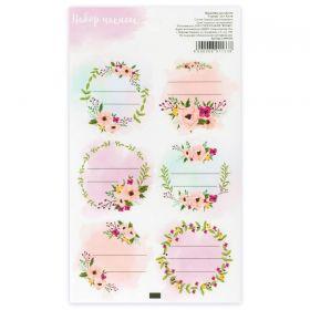 Наклейка для цветов «Строки», 16 × 9,5 см