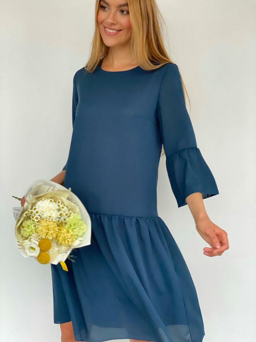 3232 Платье с воланами в цвете riverside