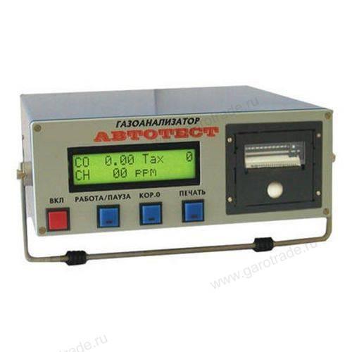 Автотест 01.02П газоанализатор с принетром