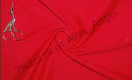 Красная  кулирка Фуллайкра отрез 0,3м
