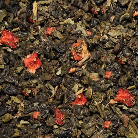Земляника со сливками - зеленый чай с натуральными добавками