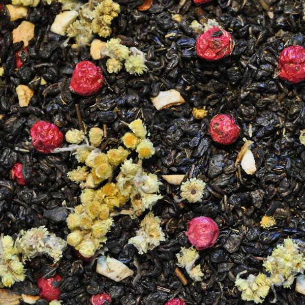 На здоровье  - зеленый чай с природными добавками.