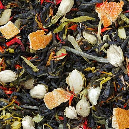 Поцелуй Афродиты  - зеленый чай с натуральными добавками