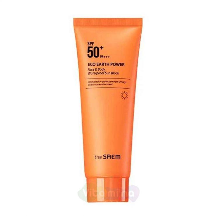 The Saem Eco Earth Power Face & Body Waterproof Sun Block N Крем солнцезащитный для лица и тела, 100гр