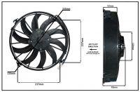 """Осевой вентилятор, 12"""" дюймов, 120W, 12V, Толкающий (PUSH), STR202"""