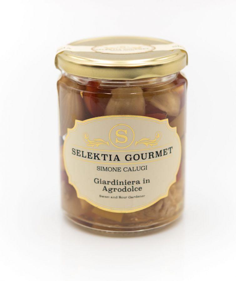 Джардиньера в кисло-сладкой заправке 280 г Giardiniera in agro dolce, Selektia Tartufi 270 g