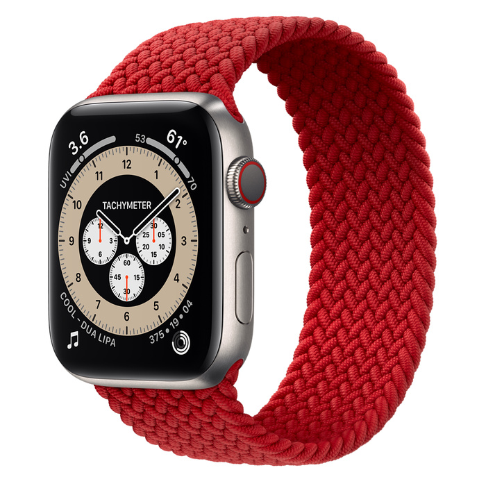 Часы Apple Watch Edition Series 6 GPS + Cellular 44mm Titanium Case with (PRODUCT)RED Braided Solo Loop