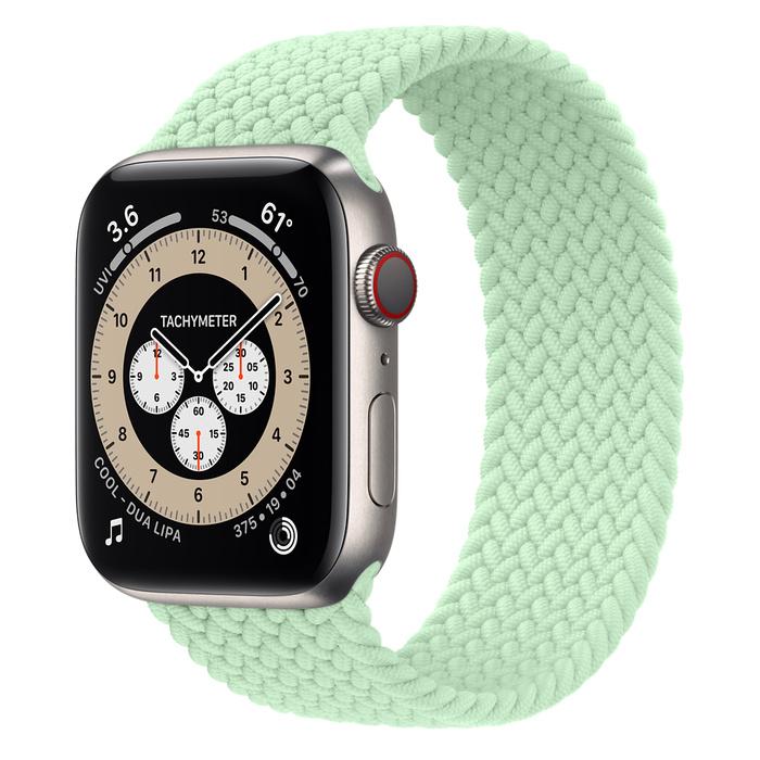 Ремешок Apple Watch Series 6 Pistachio Braided Solo Loop (для корпуса 44 мм)