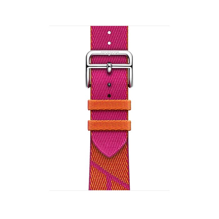 Ремешок Apple Watch Hermès Orange/Rose Mexico Jumping Single Tour из кожи (для корпуса 40 мм)