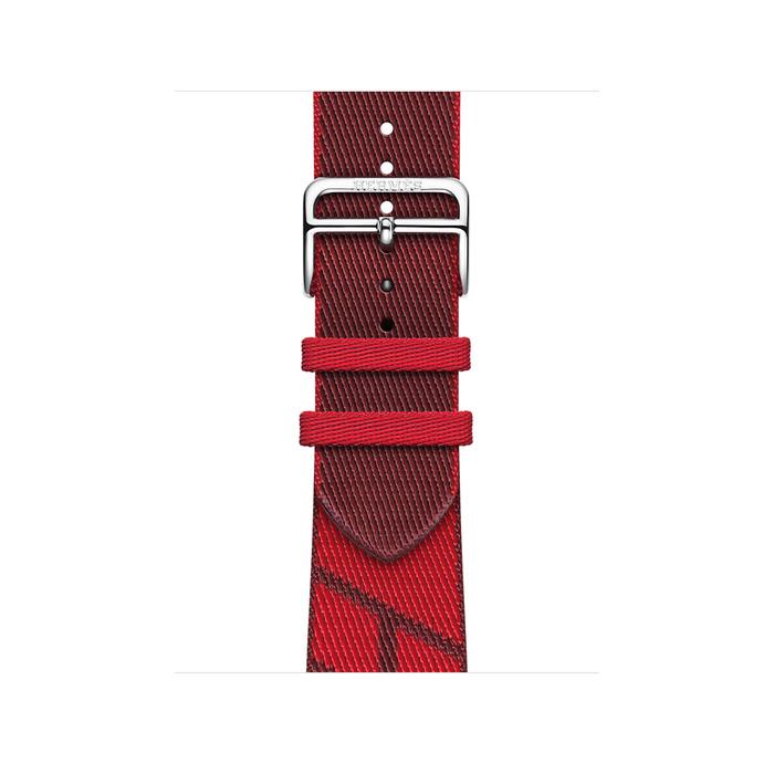 Ремешок Apple Watch Hermès Rouge de Cœur/Rouge H Jumping Single Tour из кожи (для корпуса 40 мм)