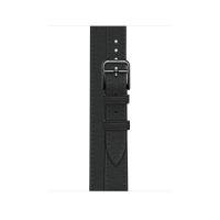 Ремешок Apple Watch Hermès Noir Swift Leather Attelage Double Tour из кожи (для корпуса 40 мм)
