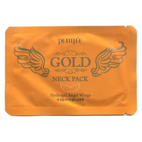 Гидрогелевая маска  с экстрактом золота для эластичности и молодости кожи шеи