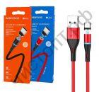 Кабель USB - Type-C Borofone BU16 1.0м 3.0A магнит. ткань красный