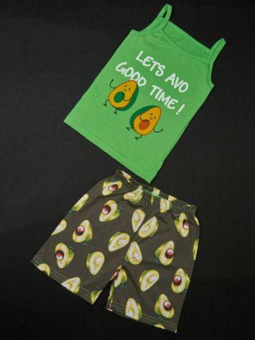 Костюм авокадо: майка на бретельках, шорты kA-KS049-SUk