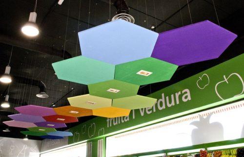 Потолочная плита Optima Canopy — Hexagon (1) 1170x1010x30