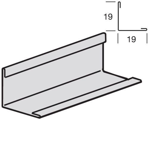 Угловой пристенный молдинг 19x19, окрашенный