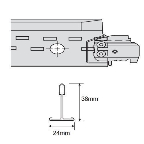 Prelude 24 TLX PeakForm коррозионно-стойкая рейка поперечная 1200 x 38 мм