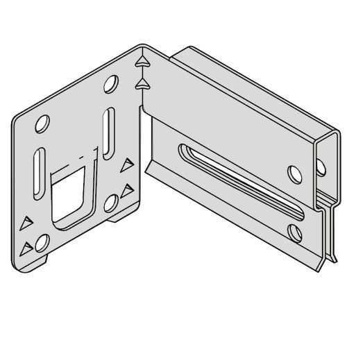 Клипса пристенная удерживающая для несущих реек (в коробке 200 шт.)