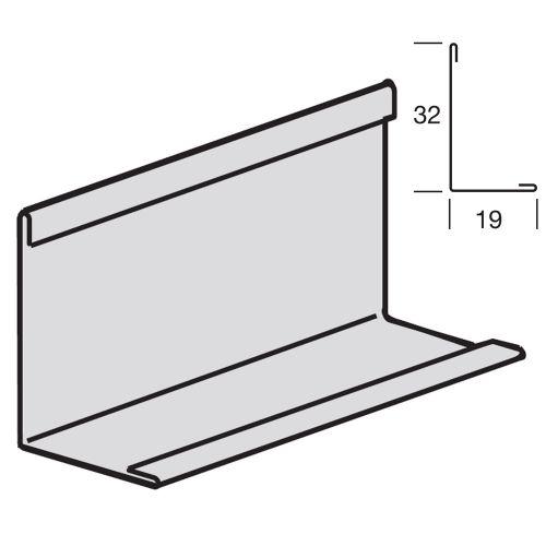 Угловой пристенный молдинг 19x32, окрашенный